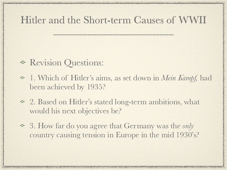 causes of ww2 research paper