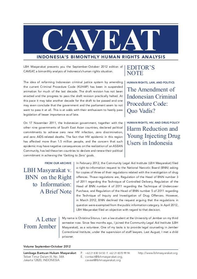 Caveat - Volume September-October 2012 - LBH Masyarakat