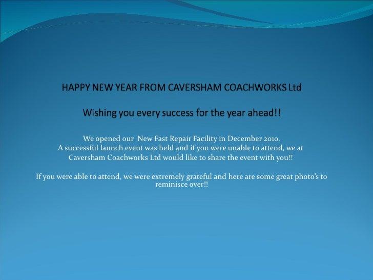 Caversham Coachworks Launch