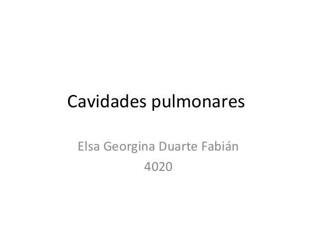 Cavidades pulmonares Elsa Georgina Duarte Fabián            4020