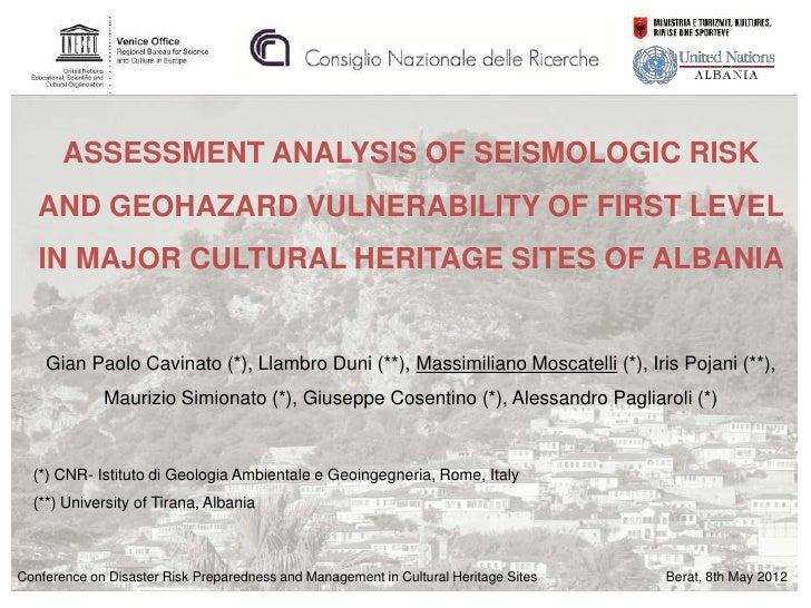 Disaster Risk Preparedness &  Management: Cavinato - II