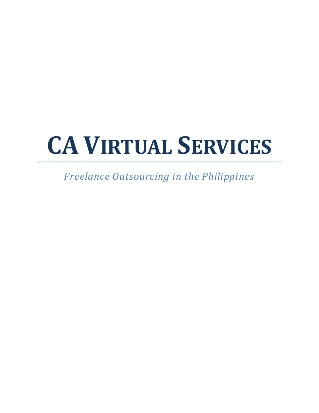 CA VIRTUAL SERVICES Freelance Outsourcing in the Philippines