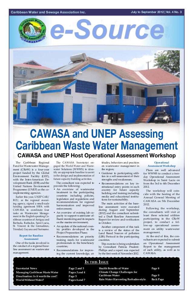 Caribbean Water and Sewage Association Inc.                                                               July to Septembe...
