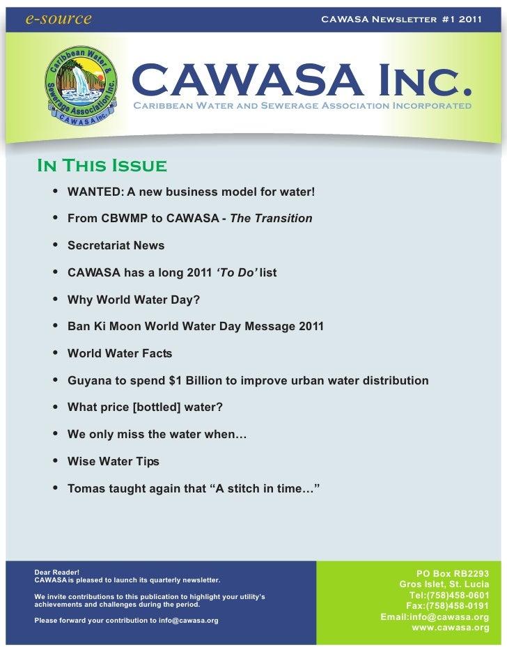 e-source                                                                   CAWASA Newsletter #1 2011                      ...