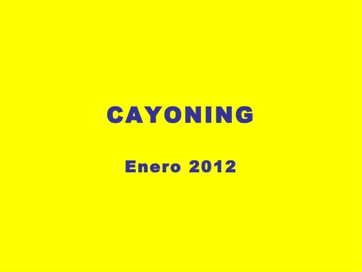 CAYONING Enero 2012
