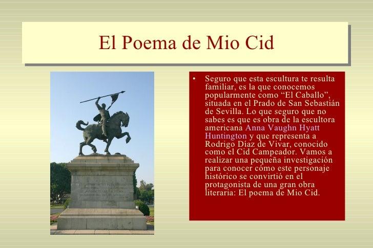 """El Poema de Mio Cid <ul><li>Seguro que esta escultura te resulta familiar, es la que conocemos popularmente como """"El Cabal..."""
