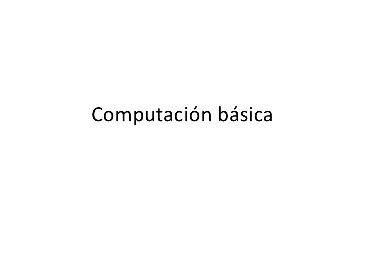 Computación básica<br />