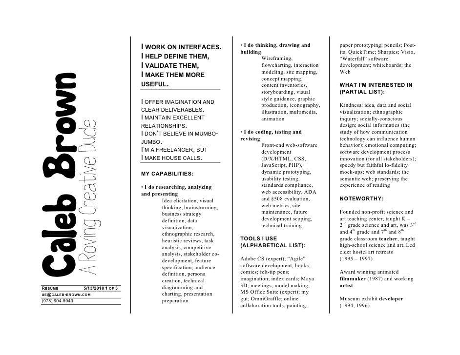Caleb Brown - Current Résumé