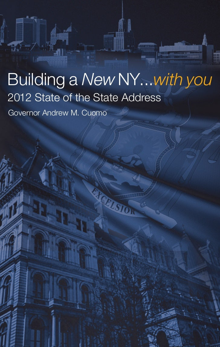 2012 New York State of the State Address - Andrew Cuomo