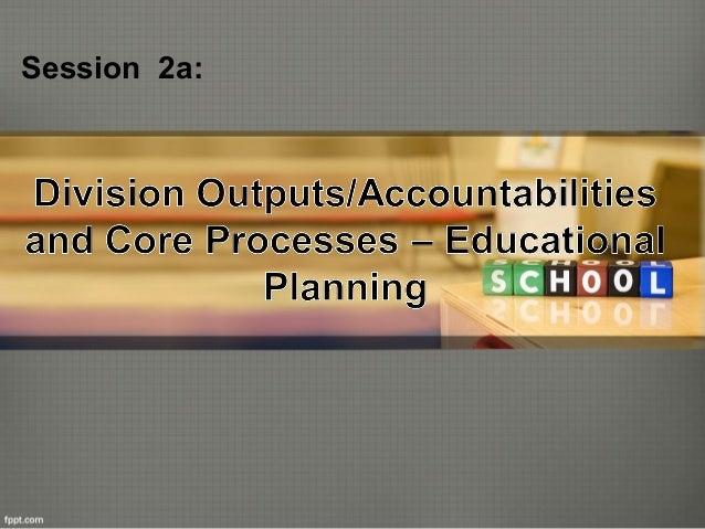Educational Planning (QAAD Session)