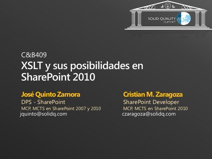 José Quinto Zamora                    Cristian M. ZaragozaDPS - SharePoint                      SharePoint DeveloperMCP, M...