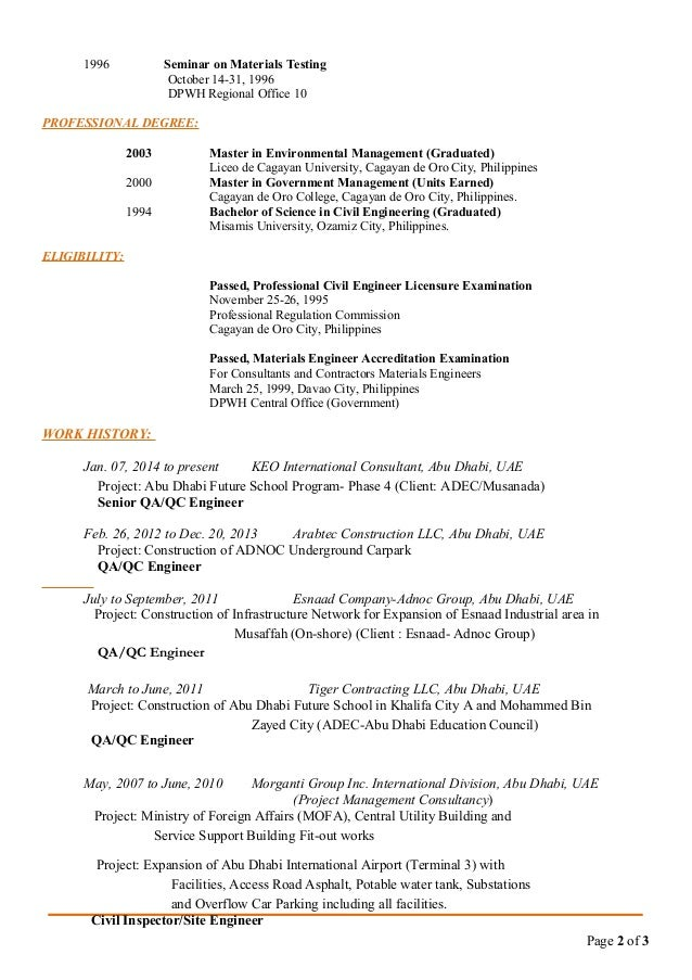 Qa Qc Engineer Resume Nmdnconference Com Example Resume And