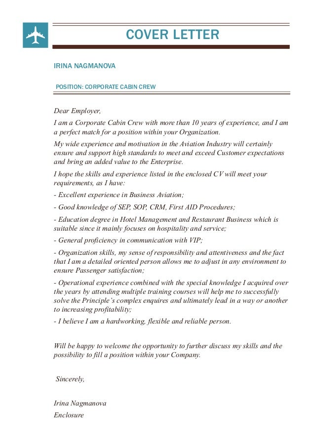 Cabin Steward Cover Letter