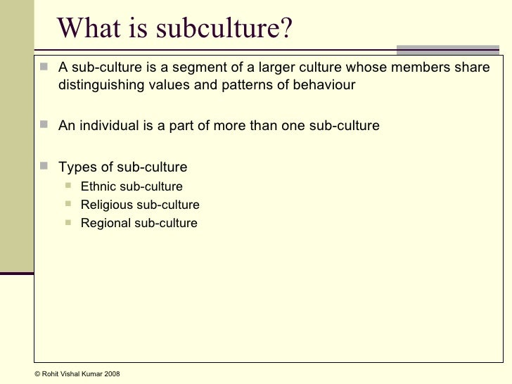 difference between dominent culture and subculture Contrast the dynamics between dominant cultures and subcultures either in a work setting or in society explain why it is important to understand the impact of culture.