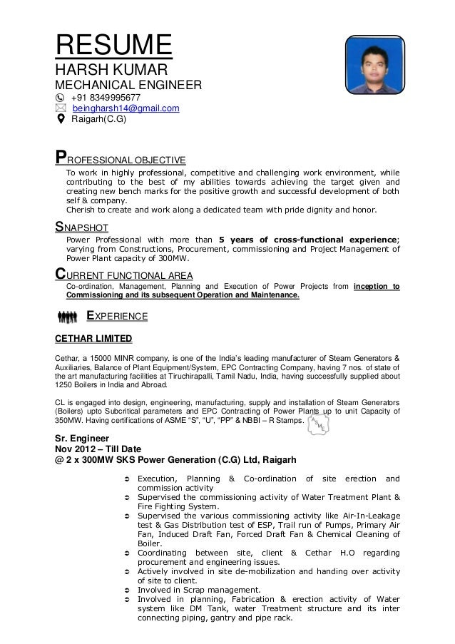Boiler commissioning engineer resume : Aware-army.gq