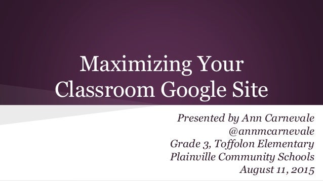 how to create a google classroom website