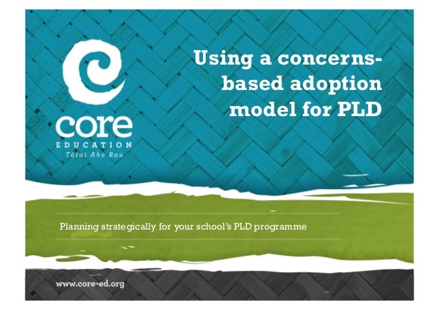 Planning strategically for your school's PLD programme Using a concerns- based adoption model for PLD