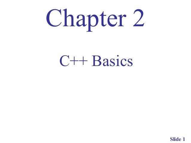C++ basics