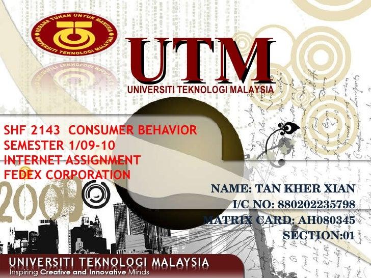 Consumer Behavior Individual Assignment