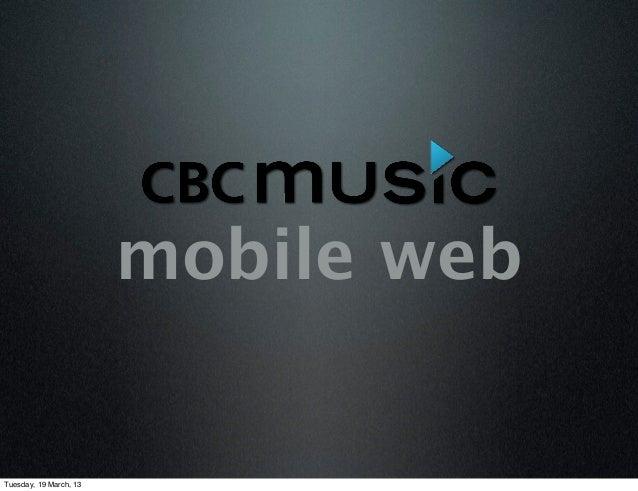 CBC Music Mobile web