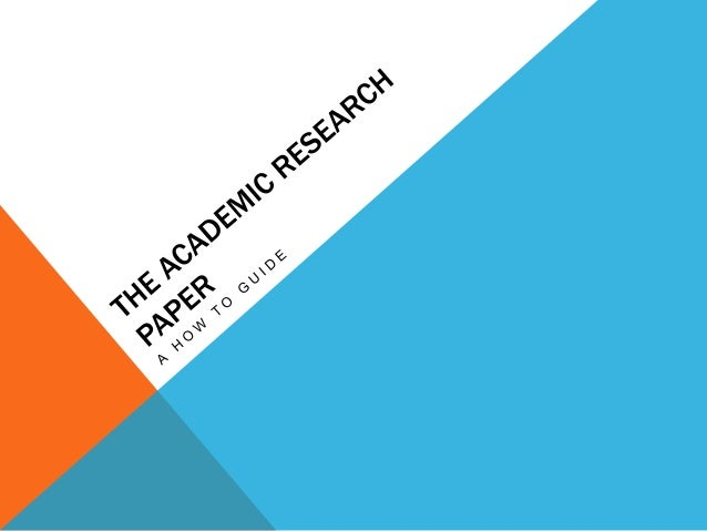 what is an overview of a research paper Writing a formal research paper in the social sciences section is meant to be an overview of the entire research paper running head.