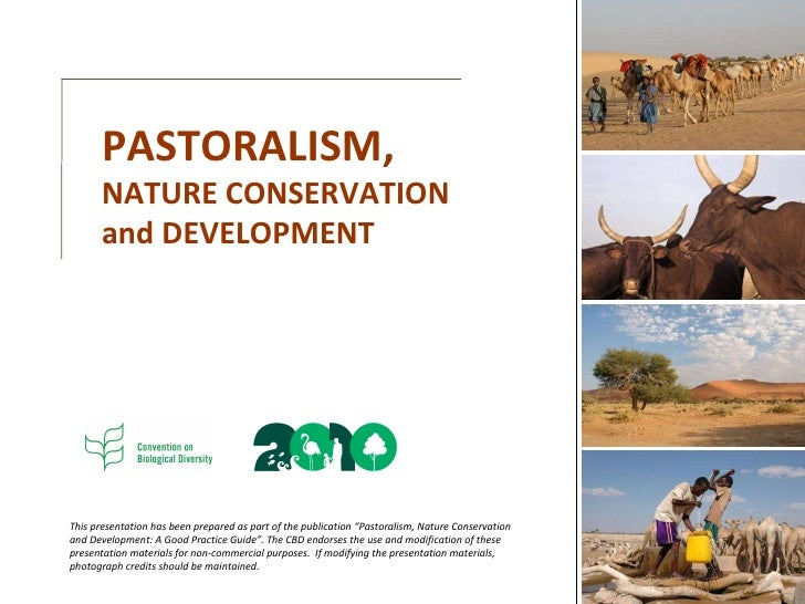"""This presentation has been prepared as part of the publication """"Pastoralism, Nature Conservation and Development: A Good P..."""