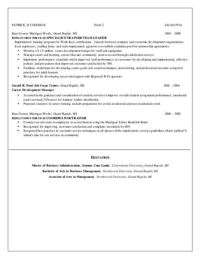 michigan works resume resume ideas