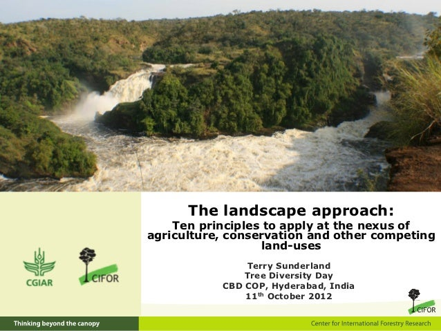 The landscape approach:    Ten principles to apply at the nexus ofagriculture, conservation and other competing           ...