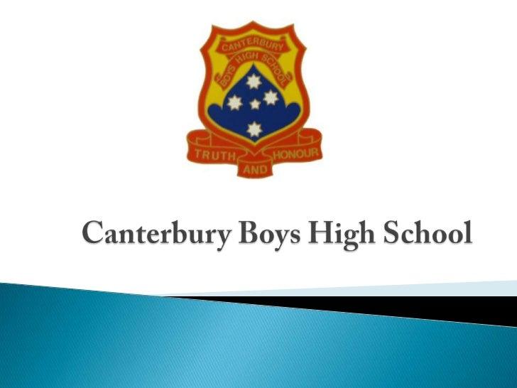 Canterbury Boys High School<br />