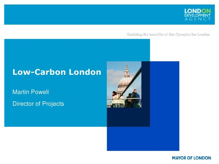 London and the low carbon economy