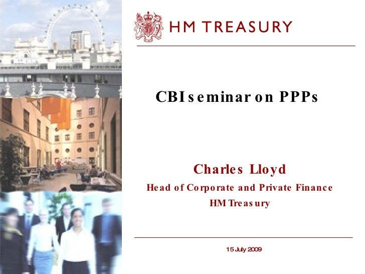 CBI seminar on PPPs