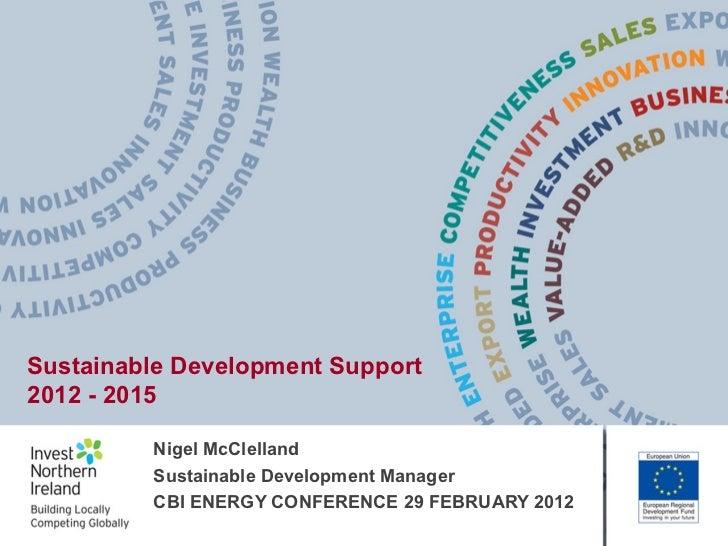 CBI NI energy conference: Nigel McClelland