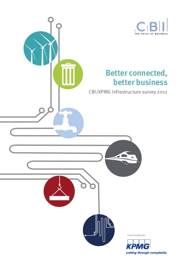 Better connected,         better businessCBI/KPMG infrastructure survey 2012                 In partnership with