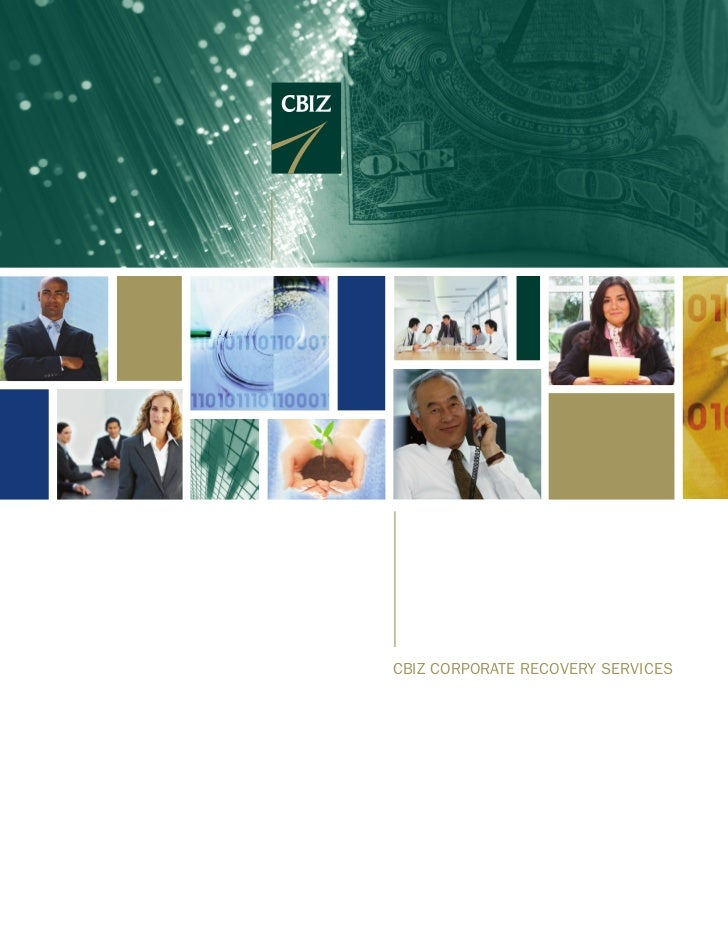 CBIZ Corporate reCovery servICes