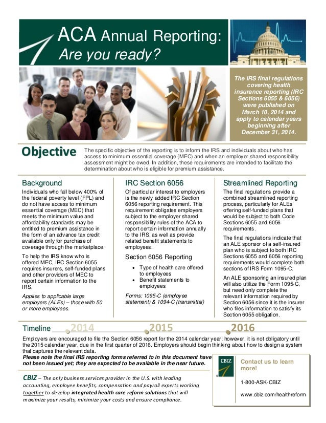 ACA Annual Reporting: Are You Ready?