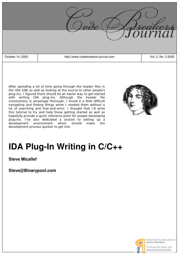 Journal October 14, 2005                        http://www.codebreakers-journal.com                       Vol. 2, No. 3 20...
