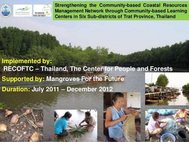 Strengthening the Community-based Coastal Resources                Management Network through Community-based Learning    ...