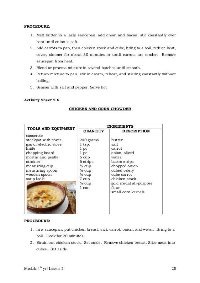Food Preservation Recipes Procedure