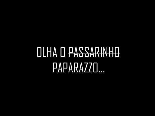 OLHA O PASSARINHO PAPARAZZO...