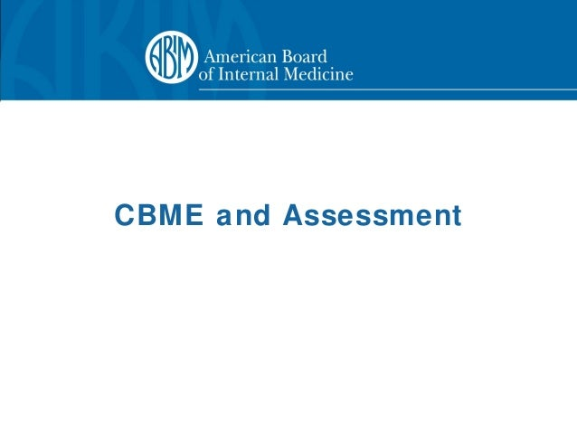 CBME and Assessment