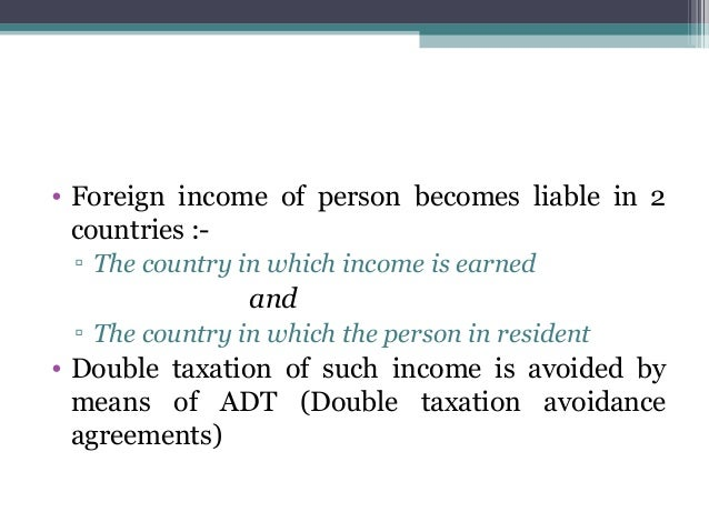 Double Taxation Avoidance Agreement Term Paper Help