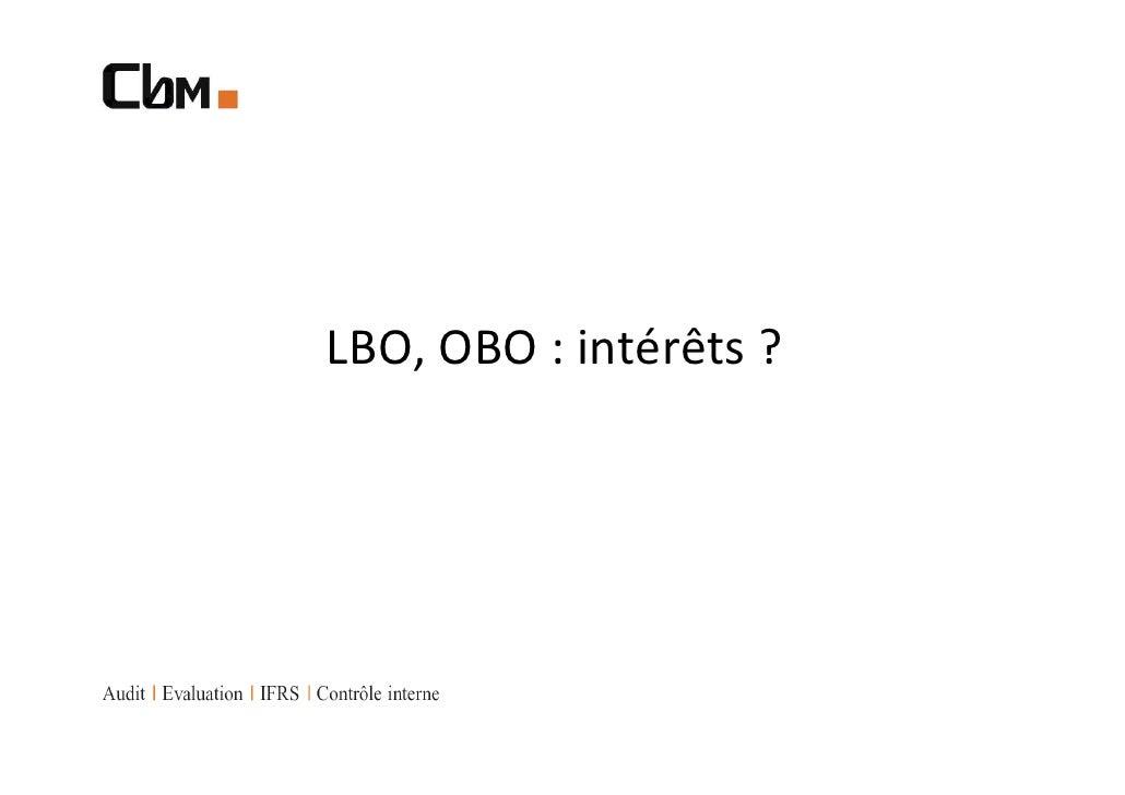 LBO, OBO : intérêts ?