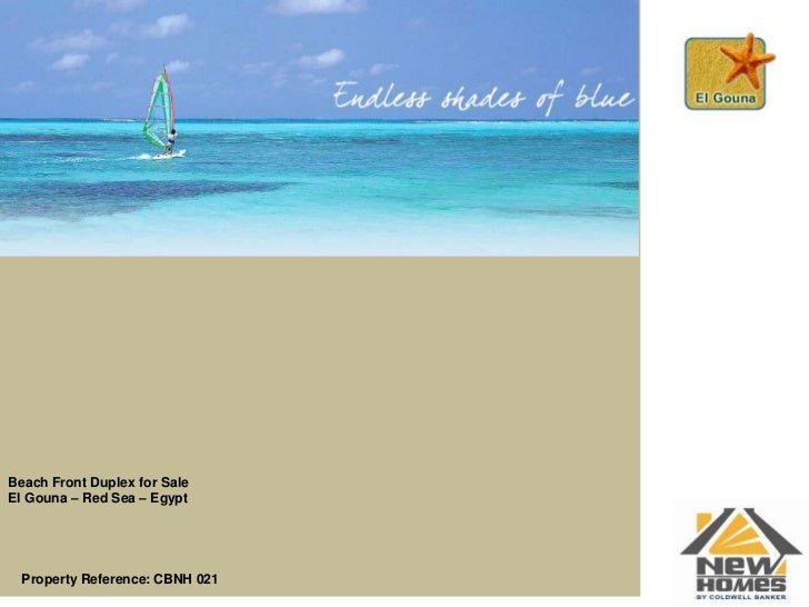 Beach Front Duplex for Sale<br />El Gouna – Red Sea – Egypt<br />Property Reference: CBNH 021 <br />