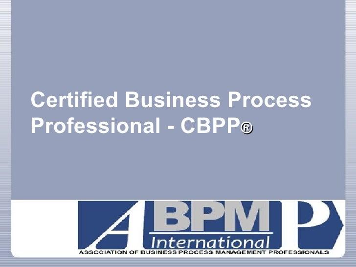 Certified Business Process Professional - CBPP ®