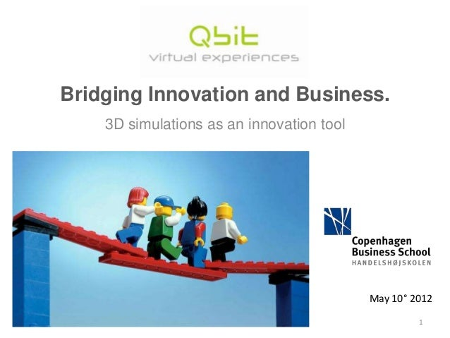 Bridging Innovation and Business. 3D simulations as an innovation tool  May 10° 2012 1