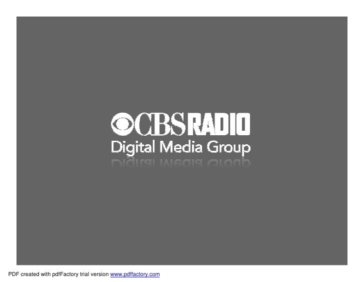 CBS + AOL + Yahoo Loc Natl Capabilities