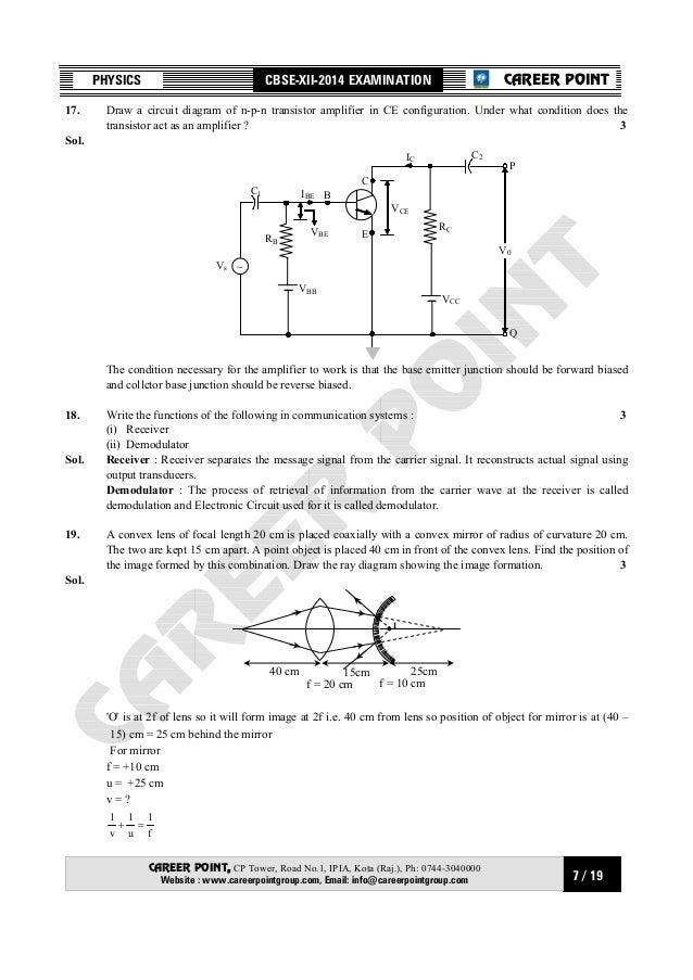 Circuit Diagram Physics Draw a Circuit Diagram of