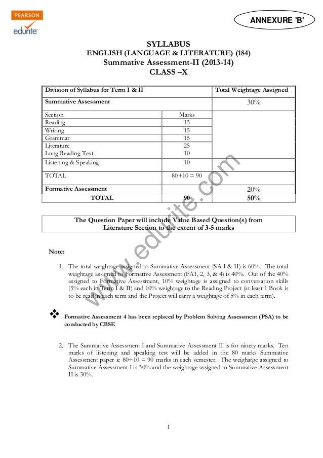 Class 10 Cbse English Literature Sample Paper Term 2 2014