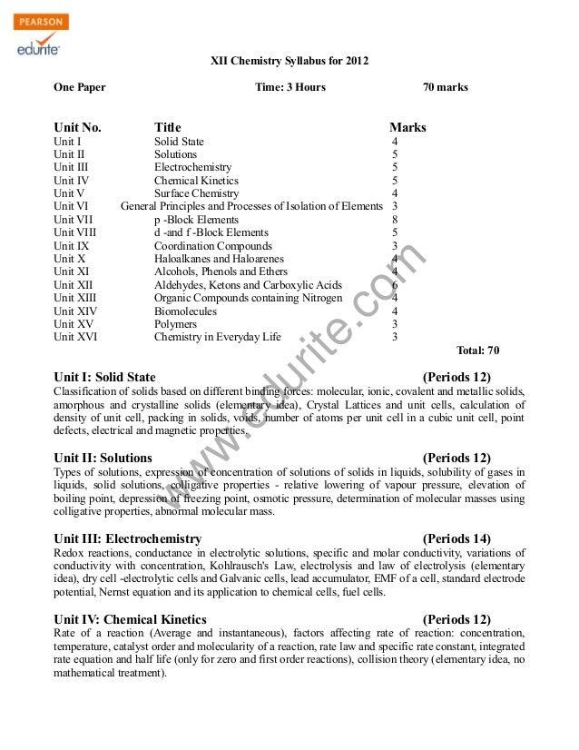 Cbse class-12-chemistry-syllabus-2012
