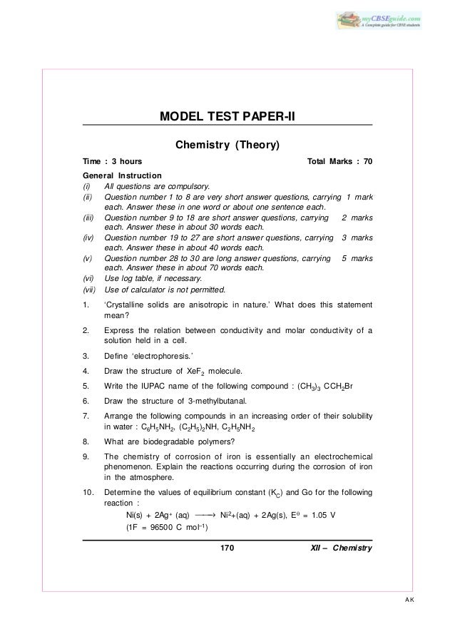 Buy chemistry research paper sample